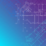 Vector Blue architectural background Stock Photo