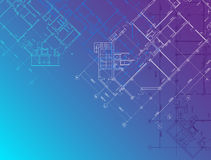 Vector Blue architectural background horizontal Stock Photos