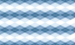 Vector Blue Argyle Background Stock Image