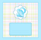 Vector blue baby congratulations for the boy Royalty Free Stock Photos