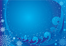 Vector blue background. New Year blue winter background Stock Images