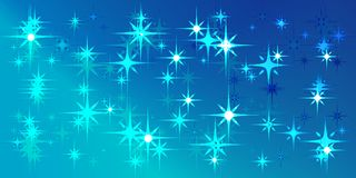 Vector blue background with blue stars. For decoration of fabric or postcards Stock Images
