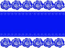 Vector. Blue background with roses. Pattern of blue roses on a white background royalty free illustration