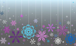 Vector blue background. With snowflakes royalty free illustration