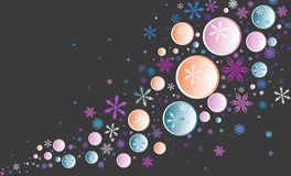 Vector blue background. With snowflakes stock illustration