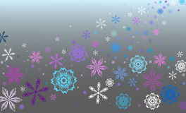 Vector blue background. With snowflakes vector illustration