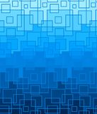 Vector blue background of square lines. Abstract color geometric pattern Royalty Free Stock Photo