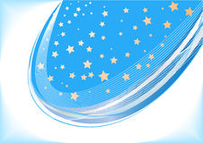 Vector blue background with star. Clip-art Royalty Free Stock Image