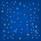 Vector blue background with stars Stock Photo
