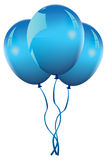 Vector blue balloon Royalty Free Stock Image