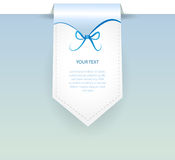 Vector blue banner Royalty Free Stock Photo