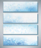Vector blue  banners. Vector blue colors bokeh  banners Stock Photography