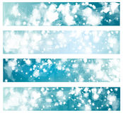 Vector   blue banners. Vector  lights, bokeh shapes, blue banners Royalty Free Stock Image