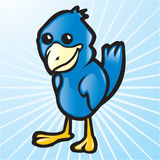 Vector Blue Bird Stock Photo