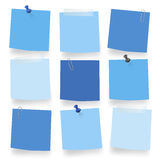 Vector Of Blue Blank Notes Office Work Concept Stock Photos
