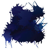 Vector blue blots Stock Photography