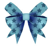 Vector of Blue Bow with Star Royalty Free Stock Images
