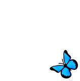 Vector blue butterfly Royalty Free Stock Photo