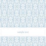 Vector blue card or invitation with white lace Stock Photo