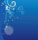Vector blue christmas background Stock Photos