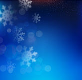 Vector blue Christmas background with snowflakes  Royalty Free Stock Image