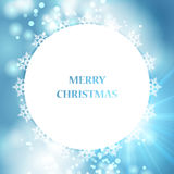 Vector blue Christmas background Stock Image