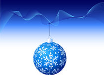 Vector - Blue Christmas Ball Royalty Free Stock Photo