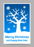 Vector blue christmas card Stock Image