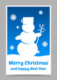 Vector blue christmas card Royalty Free Stock Photos