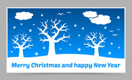 Vector blue christmas card Royalty Free Stock Photo