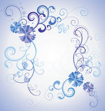 Vector blue christmas  snowflakes on white background with abstr Royalty Free Stock Images