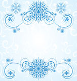 Vector blue christmas  snowflakes on white background with abstr Stock Photo