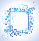 Vector blue christmas  snowflakes on white background with abstr Royalty Free Stock Photography
