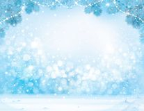 Vector blue  Christmas  background. Vector blue  Christmas, winter  background Royalty Free Stock Photo