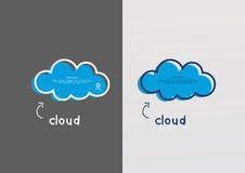 Vector blue cloud. Hand draw feel. Royalty Free Stock Photos