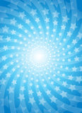 Vector blue colorful background with star Stock Images