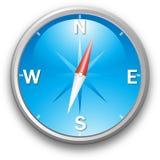 Vector blue compass vector illustration