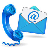 Vector blue contact icon Stock Images
