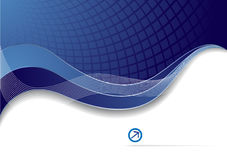 Vector blue corporate template. Clip-art Royalty Free Stock Image