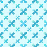 Vector blue creative seamless pattern Royalty Free Stock Photo