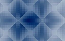 Vector blue crystal abstract background with squares and diamonds. Abstract crystal like geometric background in blue colors with transparency and gradients Royalty Free Stock Photos