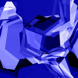 Vector blue crystal Stock Images