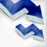 Vector blue 3d arrow background Royalty Free Stock Photos