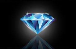 Vector blue diamond Stock Photo