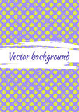 Vector blue dotted drawn background with dots. Grunge creative artistic template for greeting card Royalty Free Stock Image