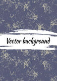 Vector blue drawn textures background. Grunge template for greeting card, layout, cover. Stock Photos