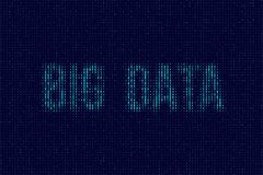 Vector blue dual code background with Big Data words. Vector blue dual code background with Big Data words Stock Images