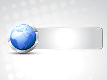 Vector blue earth. With space for your text Royalty Free Stock Photography