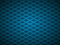 Vector blue embossed pattern plastic grid background. Technology diamond shape cell geometric pattern.  royalty free illustration