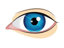 Vector blue eye Royalty Free Stock Photos